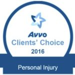 Avvo Clients' Choice 2016 Personal Injury